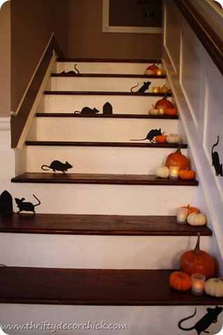 mice cut outs on stairs