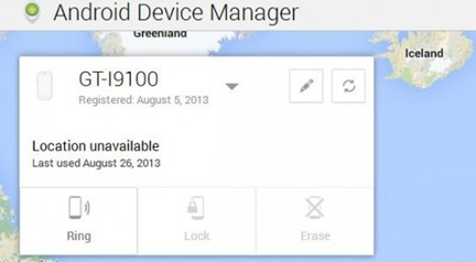 Find Lost Phone with Android Device Manager