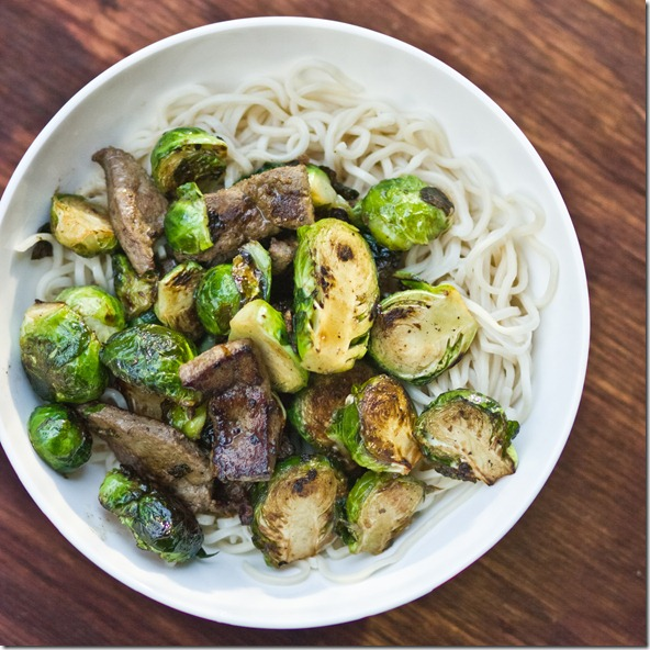 Brussels Sprouts & Beef Liver Stir-Fry