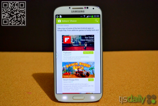 Samsung Galaxy S4 Review Display