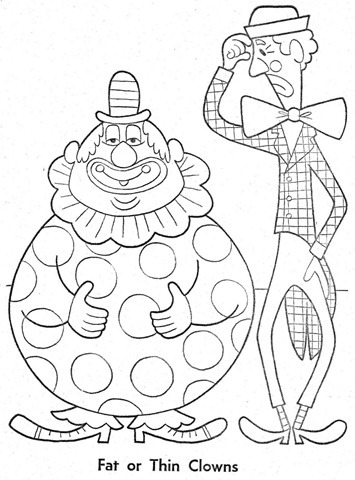 palhaço-colorir-Clowns To Color-coloring page-00004