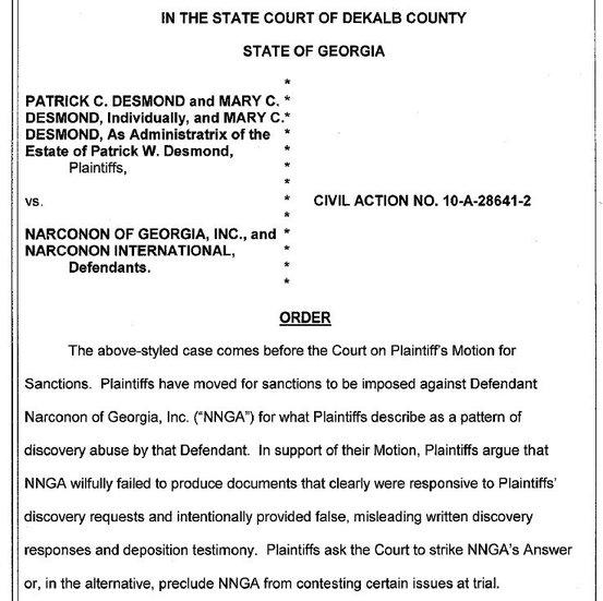 click to read complete Desmond-Suit-Sanctions-Order PDF @ Scribd