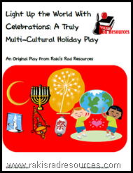 Free holiday play or reader's theater to explain how light is used in winter holiday celebrations around the world.