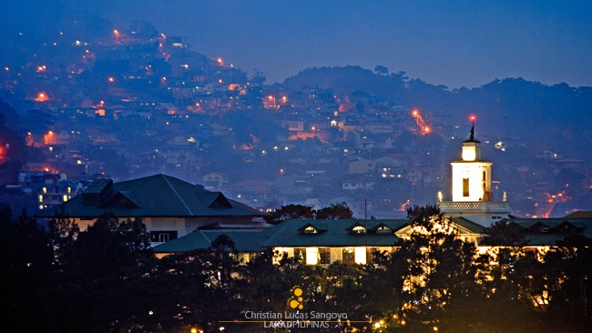 Glowing Hills Along Baguio City Hall