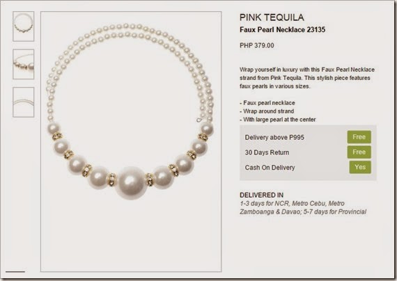 pearl necklace zalora