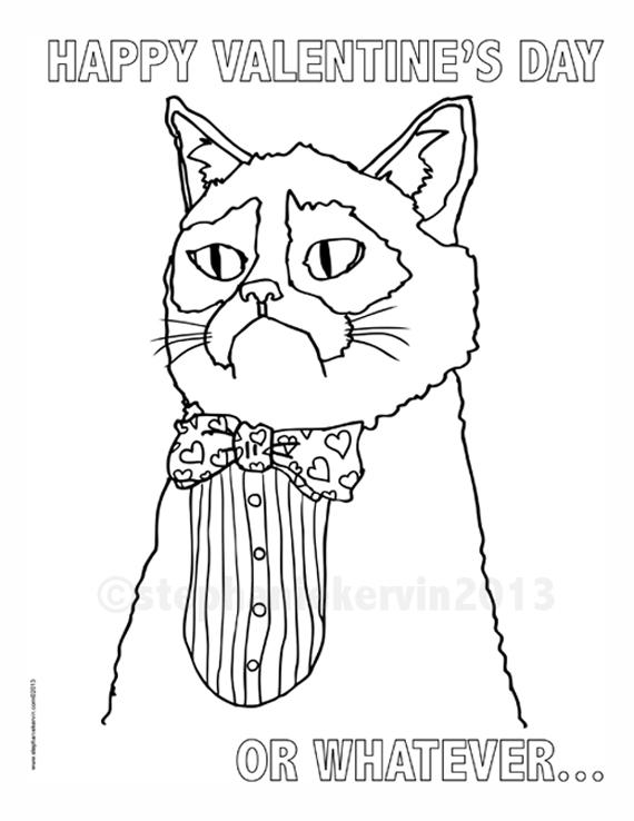 grumpy cat is ready for valentines day - Grumpy Cat Valentine