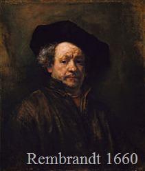 Rembrant Self Portrait 1660