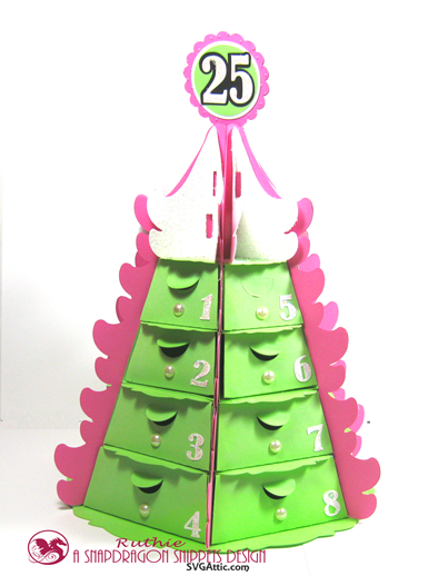 Stack Tree Advent Caledar - Calendario de Adviento - SnapDragon Snippets - Ruthie Lopez