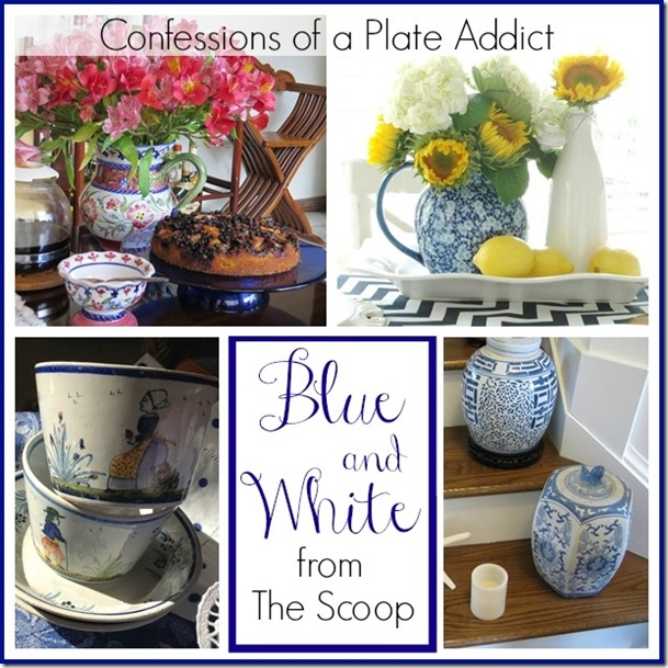 CONFESSIONS OF A PLATE ADDICT Blue and White