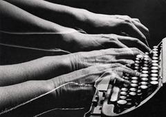 Peter Keetman - Typing - (Double Exposure) c 1958