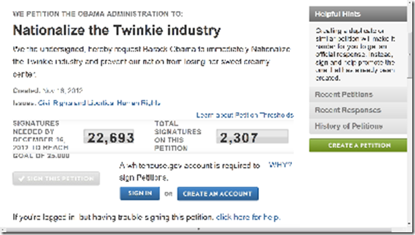 Petition Nationalize Twinkie