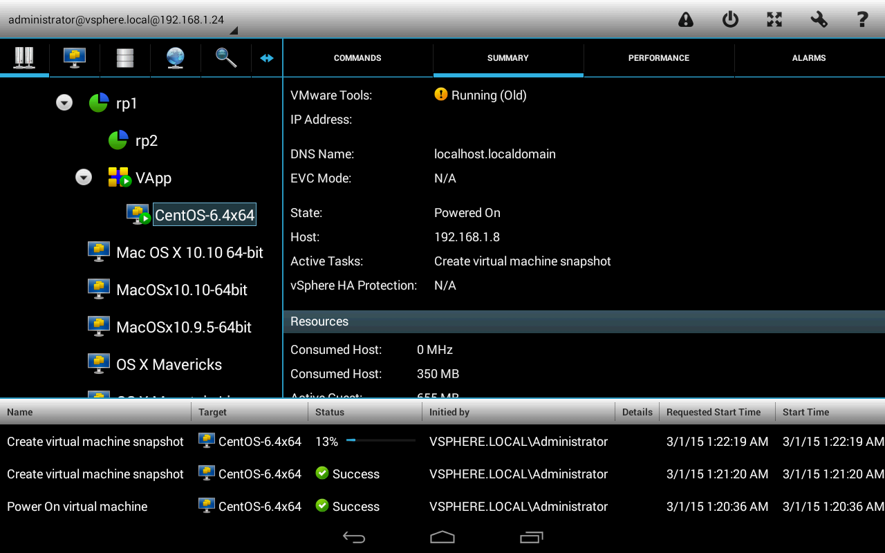 vmwPAD- screenshot