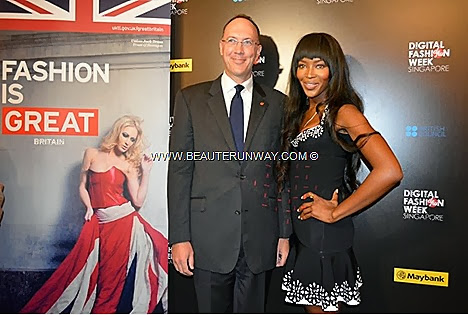 Naomi Campbell in Singapore Digital Fashion Week 2013 British Exchange Fashion SUMMER 2014 SHOWS Holly Fulton, Jaime Perlman British Vogue creative director PRODUCER THE FACE WINNER Devyn Abdullah models Jessica Amornkuldilok