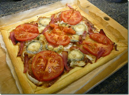 tomato, ham and goat's cheese tart3