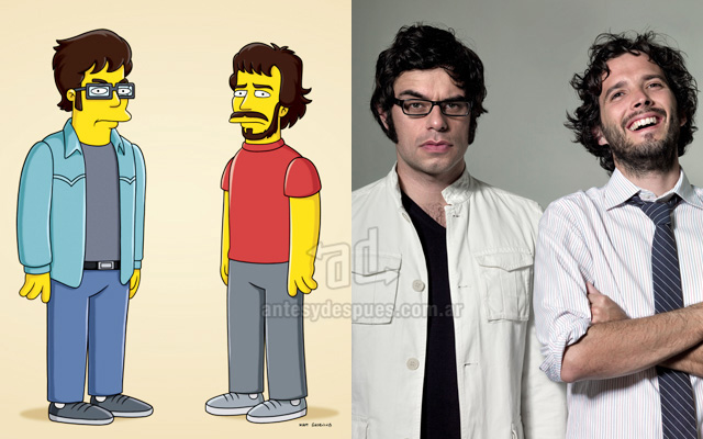 Foto de la version Simpson de Fligh Of The Conchords