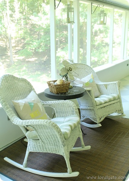 rocking chairs on porch