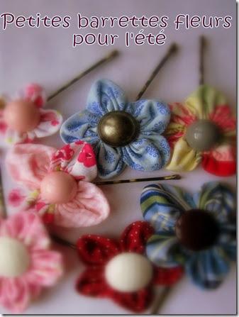 tout faire maison tuto barrette fleur en tissu. Black Bedroom Furniture Sets. Home Design Ideas