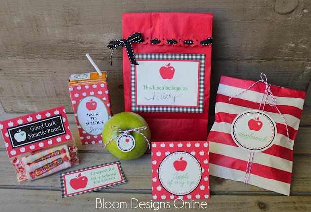 back to school lunch printables