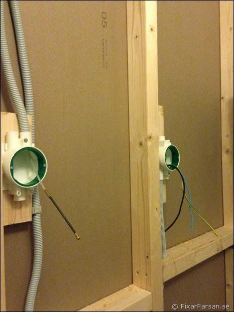 dra kabel i befintlig vägg
