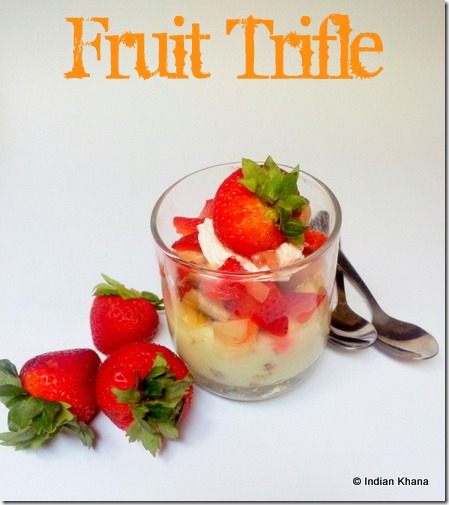 Fruit Trifle recipe Trifle pudding recipe