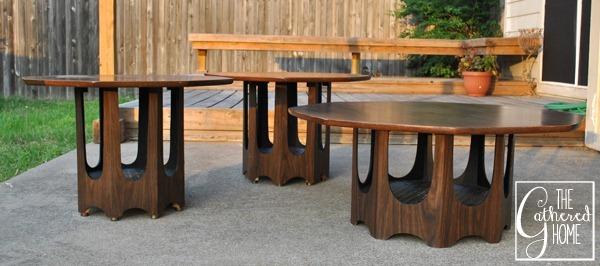 mid century brasilia style tables