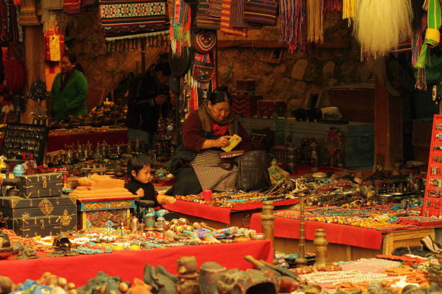 Scene from Thimphu's weekly market