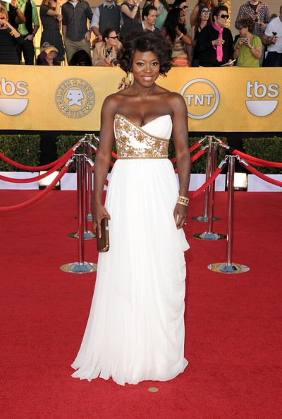 Viola Davis arrives at the 18th Annual Screen Actors Guild Awards