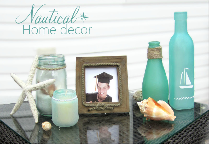 Turning Jars Into Beach Gl Other Modern Nautical Décor Using Martha Crafts Spray Paint System Stencils