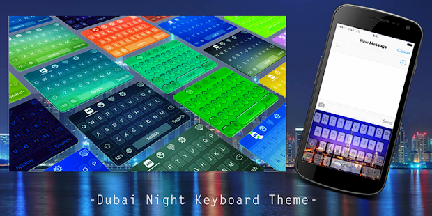 App Dubai Night Keyboard Theme APK for Windows Phone