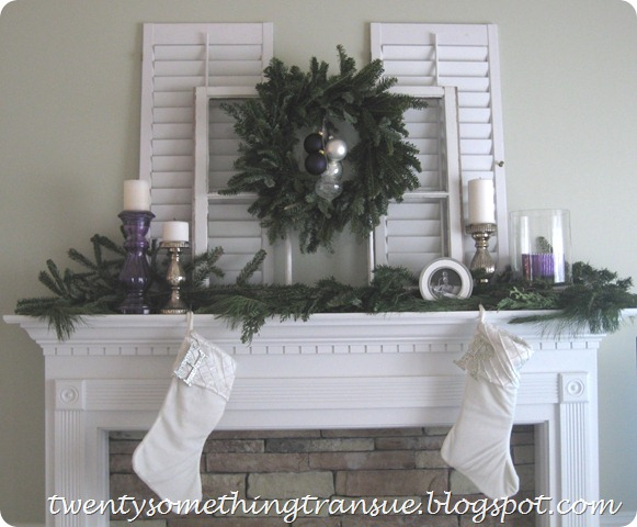 Purple Christmas Mantel Decorations 001