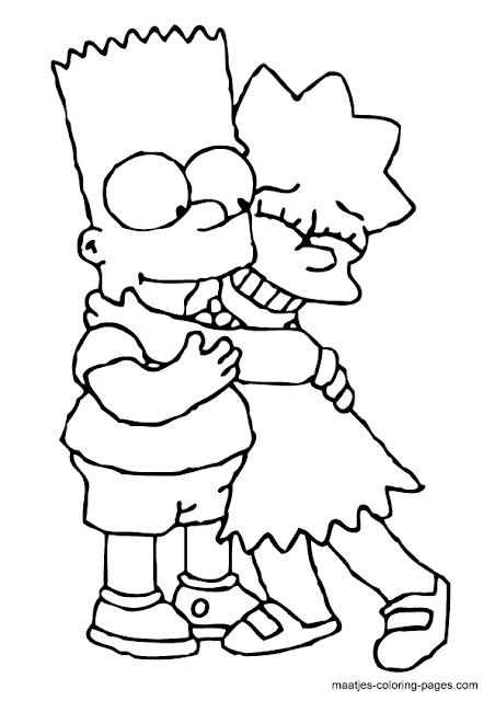Los Simpson Dibujos Para Colorear