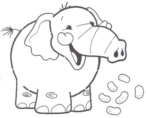 Dibujos Para Colorear De Elefantes Infantiles: DIBUJOS DE ELEFANTES PARA COLOREAR