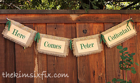 Fabric letter banner