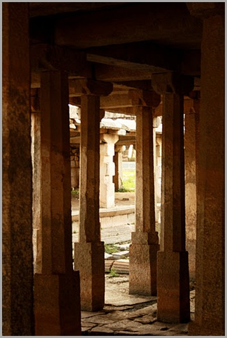 Pillars inside Under ground Shiva temple