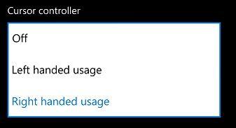 Hướng dẫn thay đổi vị trí nút điều chỉnh con trỏ Windows 10 Mobile