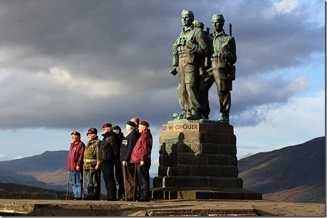 Veterans-attend-Commando Memorial Spean Bridge Scotland