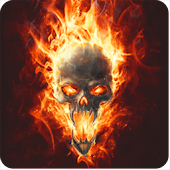 Skull In Fire LWP Animated