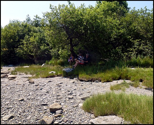 01 - Hanging out on the 4th- Shady spot on the shore