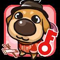My puppy French bulldog logo