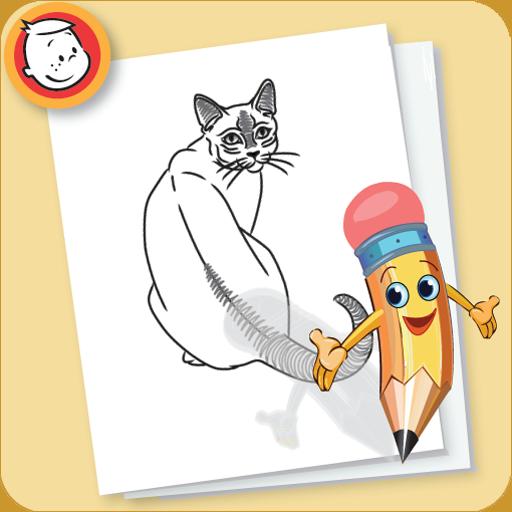 让我们画猫与狗 LOGO-APP點子