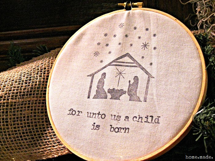 Embroidery Hoop Nativity