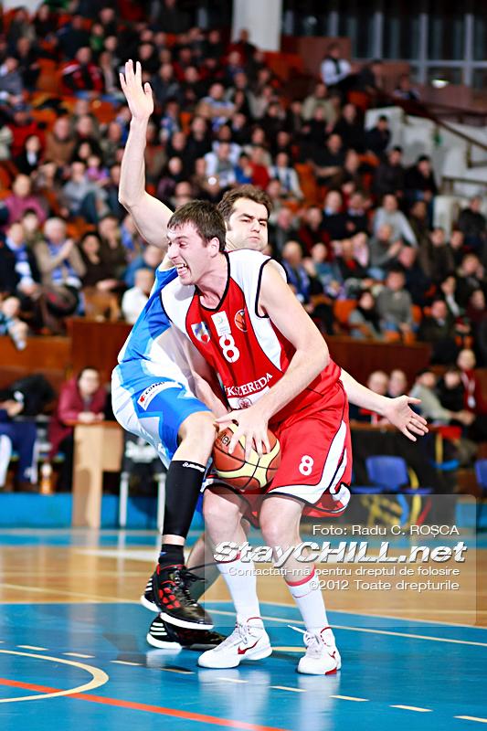 Cristian Jakab vs Flavius Lapuste / BC Mures - BC Perla Harghitei, 29 februarie 2012