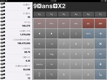 Free Calculator 2 for iPad and iPhone