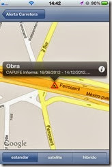 Alerta carretera en movil con iphone 4 y 5 y en Android gratis descarga