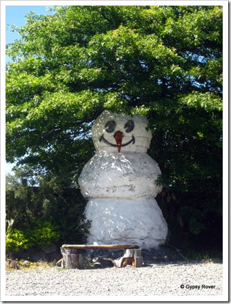 Snowman in Summer. I think not!