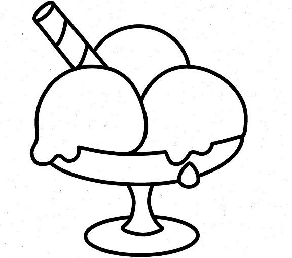 Copas De Helado Dibujos Para Colorear