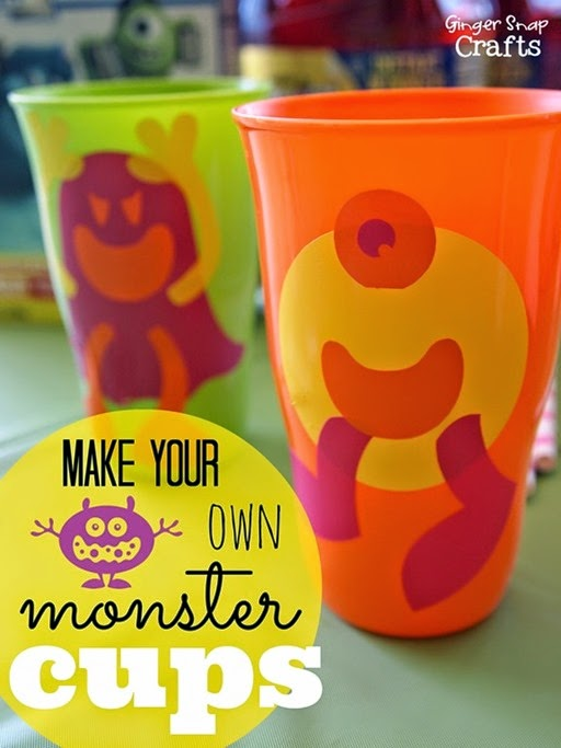 Make Your Own Monster Cups #MUJuice #gingersnapcrafts #tutorial_thumb[2]