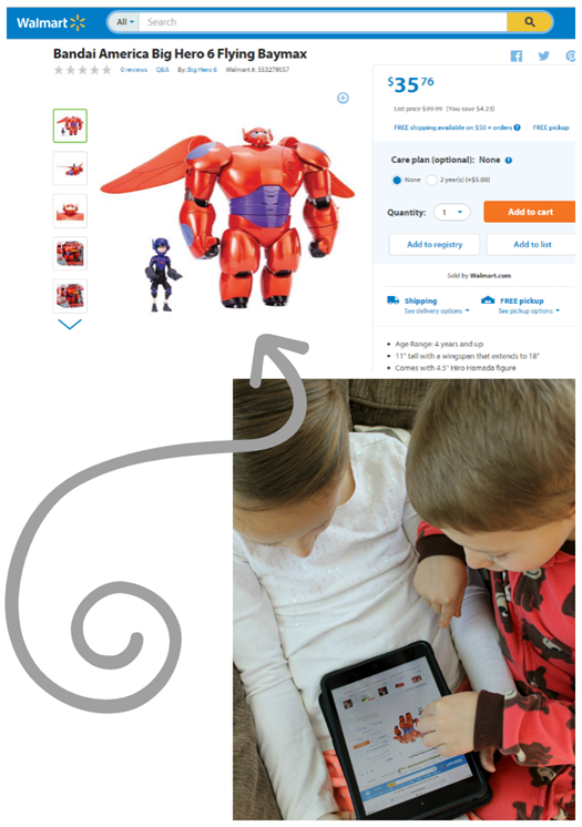 Bandai America Big Hero 6 Flying Baymax at Walmart #ad
