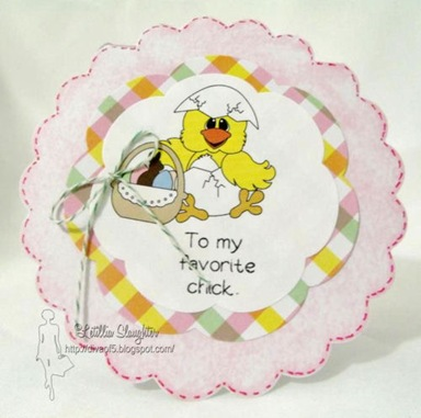 easter chick basket digi clipart 500