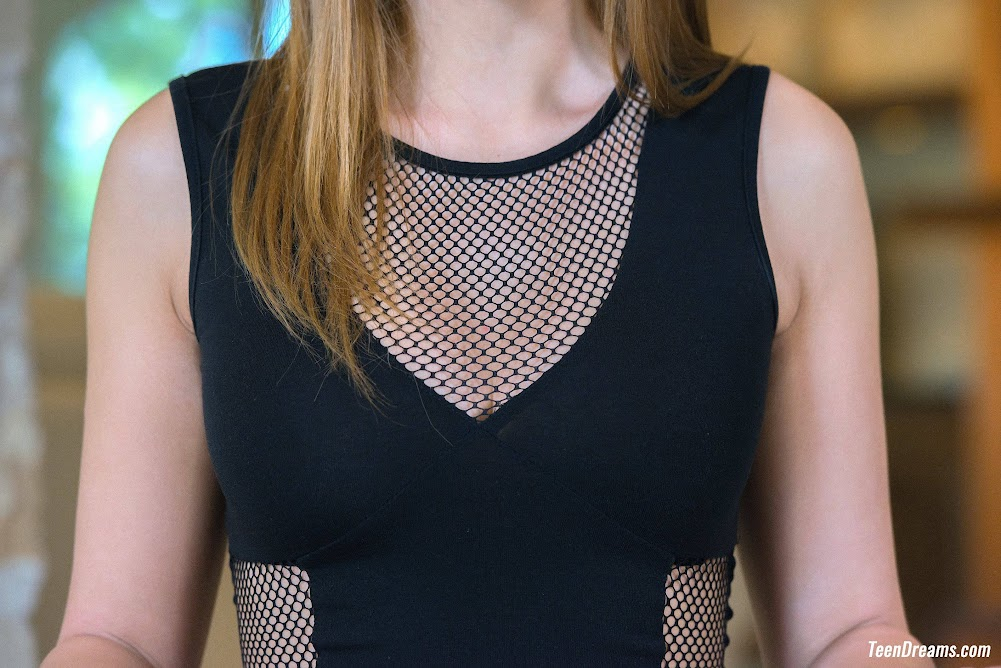 [TeenDreams] Sybil In Black Mesh Bodysuit